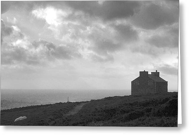 Buildings By The Sea Greeting Cards - The Chasms Cafe Greeting Card by Paul Davenport