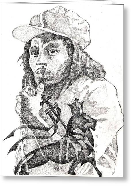 Bob Marley Artwork Greeting Cards - Ion Zion Lion Greeting Card by Paul Smutylo