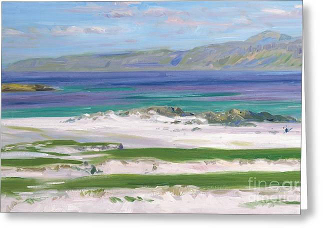 Inner Paintings Greeting Cards - Iona Sound and Ben More Greeting Card by FCB Cadell