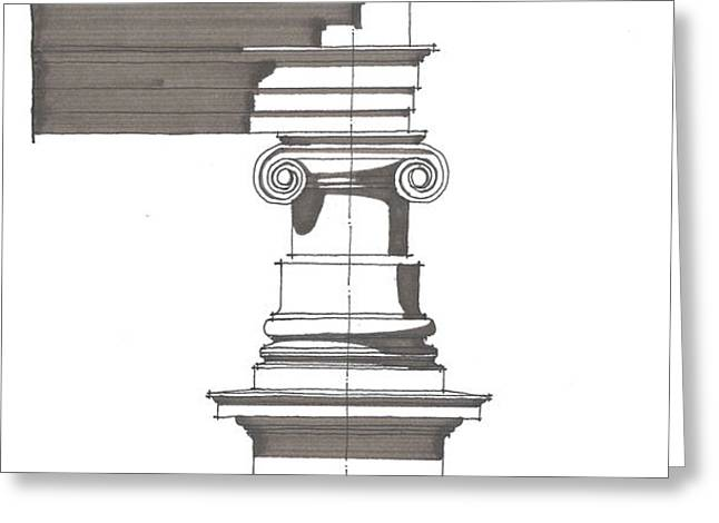 Ionic Order Greeting Card by Calvin Durham