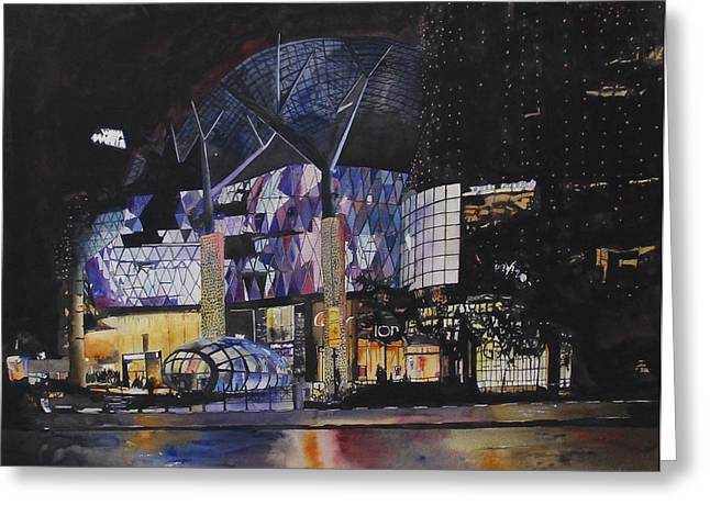 Atrium Paintings Greeting Cards - IONizing Effect Greeting Card by Kwan Yuen Tam