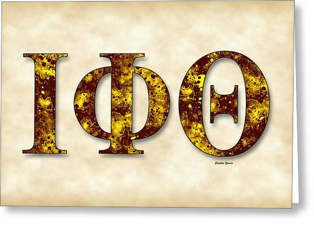 Theta Greeting Cards - Iota Phi Theta - Parchment Greeting Card by Stephen Younts