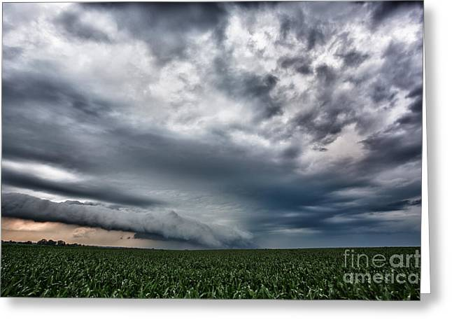 Wheat Field Sky Pictures Greeting Cards - Iowa  Greeting Card by Jeremy Holmes