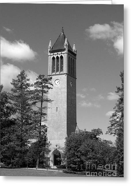 Campanile Greeting Cards - Iowa State University Campanile Greeting Card by University Icons
