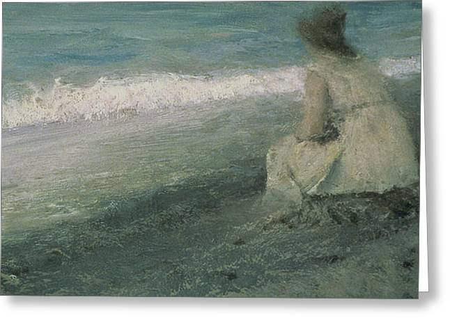 Depression Paintings Greeting Cards - Iphigenia at Tauris Greeting Card by Valentin A Serov