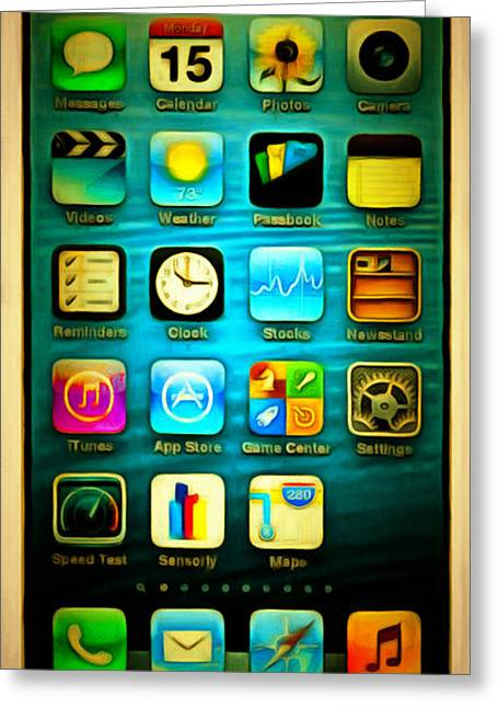 Smartphone Greeting Cards - Iphone 20150225 Greeting Card by Wingsdomain Art and Photography