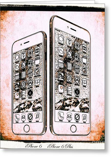 Technical Mixed Media Greeting Cards - iPhone 6  iPhone 6 Plus Greeting Card by Daniel Janda