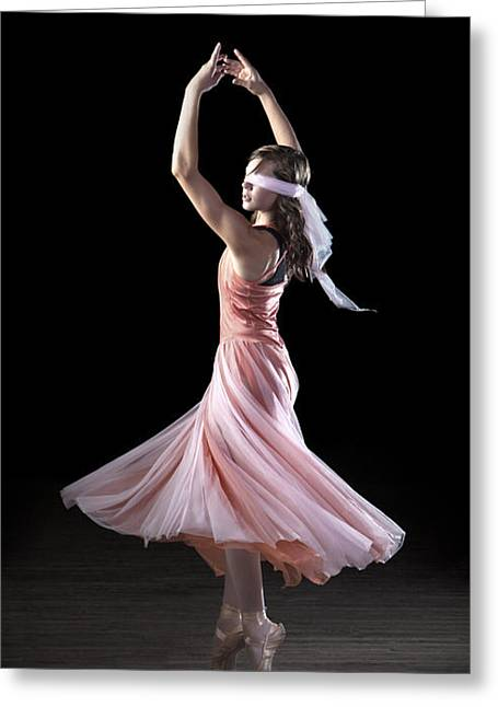 Dance Greeting Cards - iPhone Case - Dancing With Closed Eyes Greeting Card by Cindy Singleton
