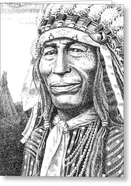 Chief Iron Tail Greeting Cards - iPhone-Case-Iron-Tail Greeting Card by Gordon Punt