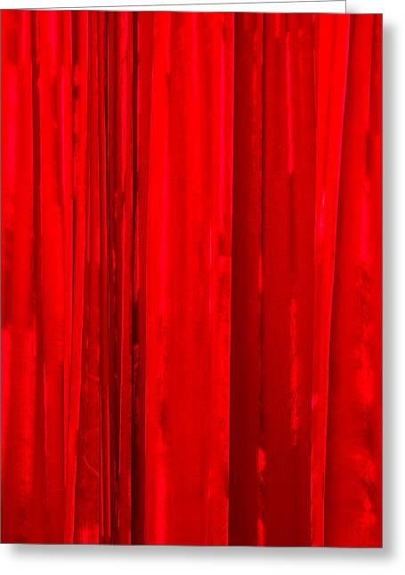 Mobile Designs Greeting Cards - iPhone Case - Red Curtain Greeting Card by Alexander Senin