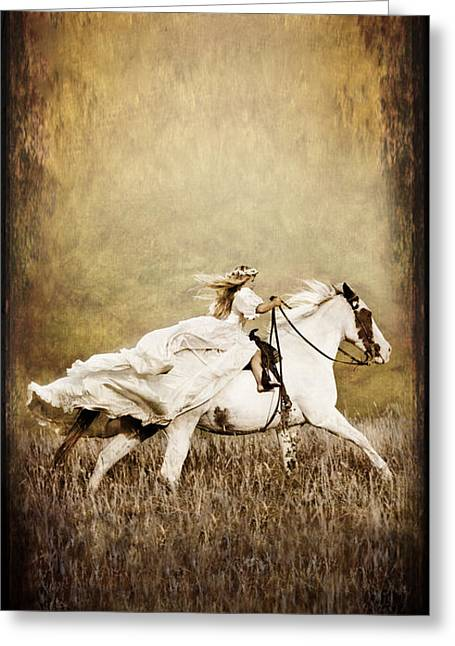 Flowing Blonde Hair Greeting Cards - iPhone Case - Ride Like the Wind Greeting Card by Cindy Singleton