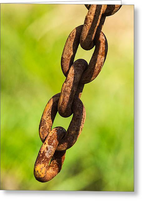 Mobile Designs Greeting Cards - iPhone Case - Rusty Chain Greeting Card by Alexander Senin