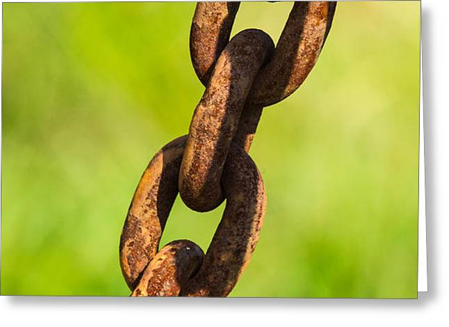 iPhone Case - Rusty Chain Greeting Card by Alexander Senin