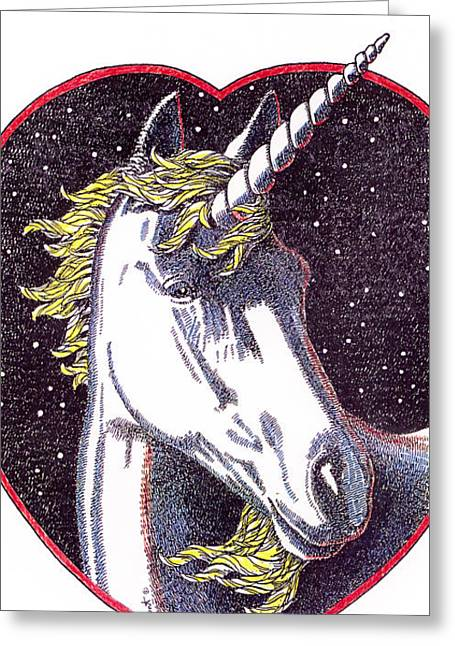 Black Unicorn Greeting Cards - iPhone-Case-Unicorn-2 Greeting Card by Gordon Punt