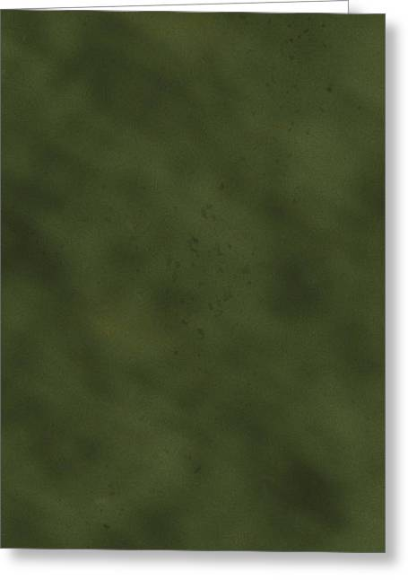 Olive Drab Greeting Cards - iPhone Green Olive Drab Greeting Card by D Wallace