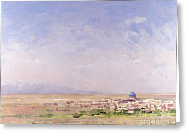 Arid Country Greeting Cards - Iran Greeting Card by Bob Brown