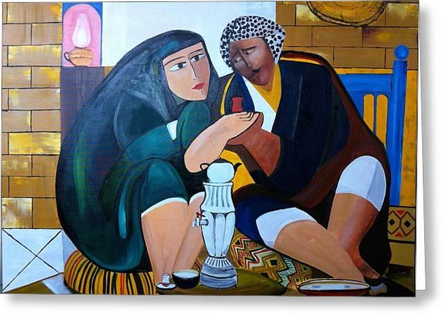 Baghdad Greeting Cards - Iraqi tea Greeting Card by Rami Besancon