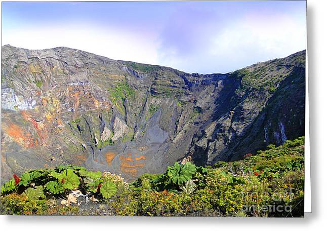 Al Central Greeting Cards - Irazu Volcano Crater - Costa Rica Greeting Card by Al Bourassa