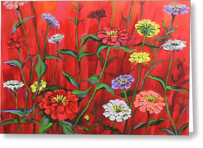 Colorful Flower Greeting Cards - I-RED-escent Greeting Card by Rick Osborn