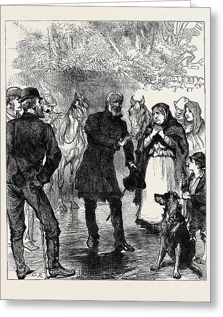 Ireland An Itinerant Orator Near Killarney 1880 Greeting Card by Irish School