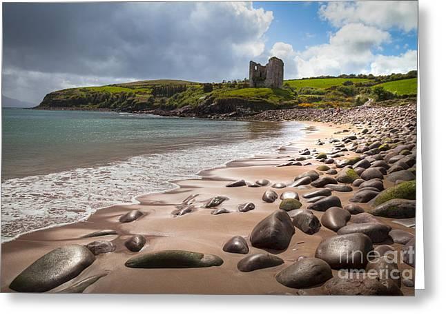 Best Sellers -  - Sand Castles Greeting Cards - Ireland - Castle Minard Greeting Card by Juergen Klust