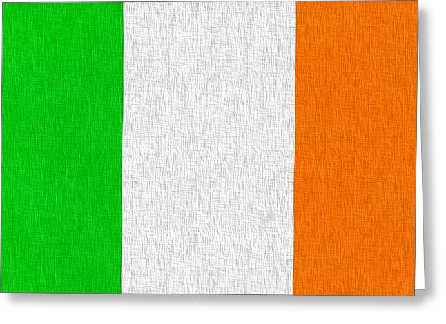 Limerick Greeting Cards - Ireland Flag Greeting Card by Dan Sproul