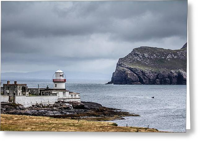 Ireland Greeting Cards - Ireland Lighthouse Greeting Card by Creative Mind Photography