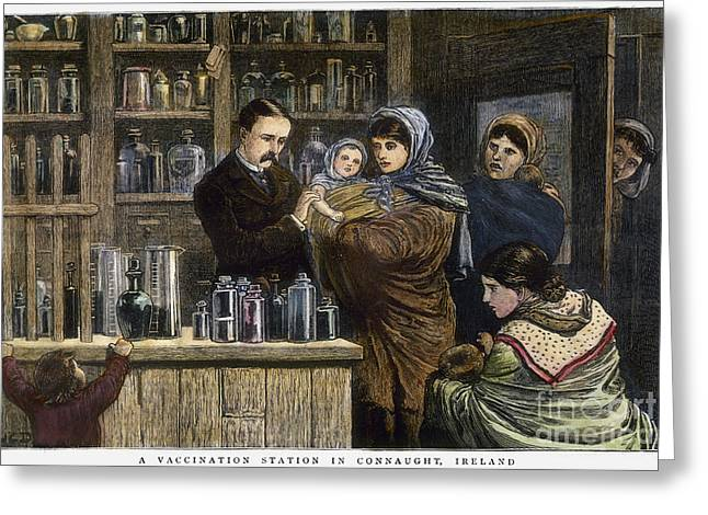 Vaccination Greeting Cards - Ireland: Vaccination, 1880 Greeting Card by Granger