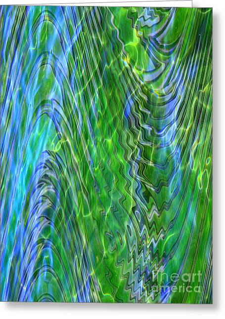 Iridescence Greeting Card by Carol Groenen