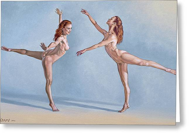 Irina Dancing Greeting Card by Paul Krapf