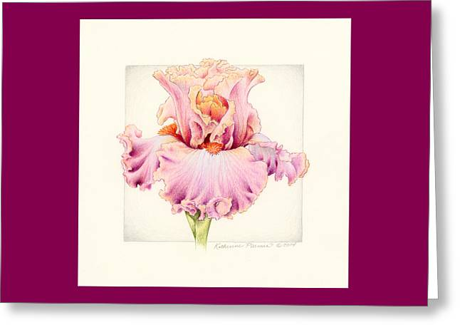 Bearded Iris Greeting Cards - Iris 2 Abiding Love Greeting Card by Katherine Plumer