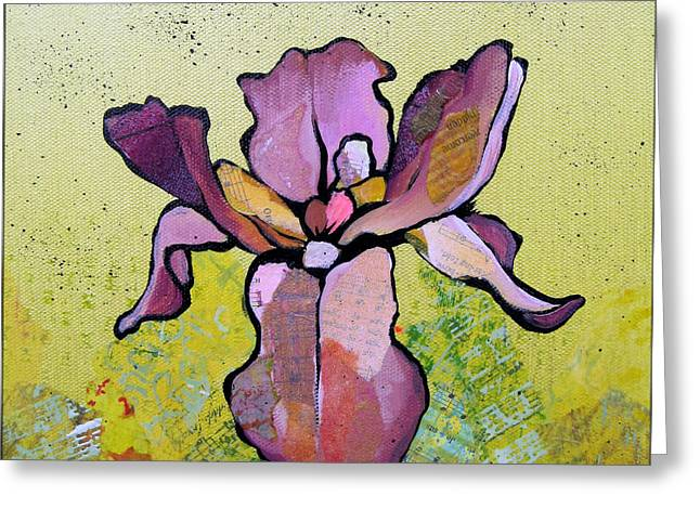 Iris II Greeting Card by Shadia Derbyshire