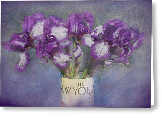 Iris Digital Art Greeting Cards - Iris in the New Yorker Greeting Card by Jeff Burgess