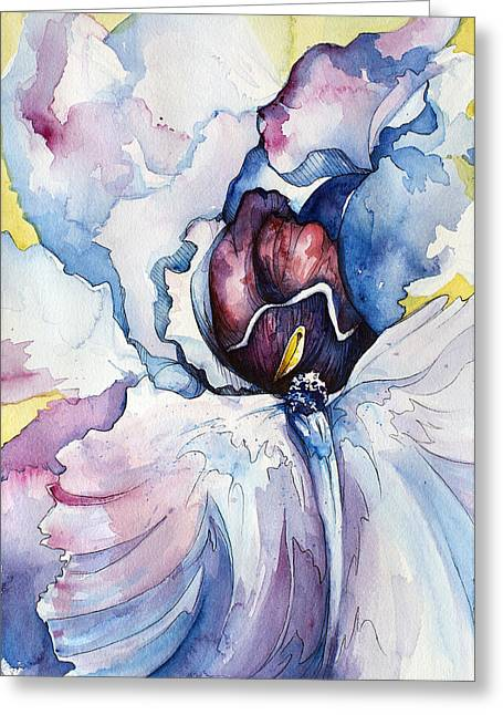 Kelly Johnson Greeting Cards - Iris Greeting Card by Kelly Johnson