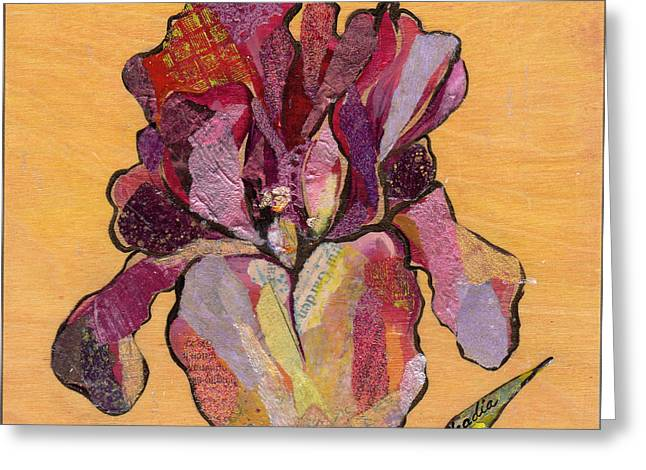 Iris V  - Series V Greeting Card by Shadia Derbyshire