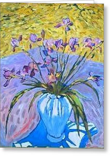 Herschel Pollard Greeting Cards - Irises at Montlake Greeting Card by Herschel Pollard