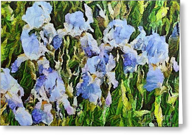 Van Gogh Style Greeting Cards - Irises Greeting Card by Dragica  Micki Fortuna