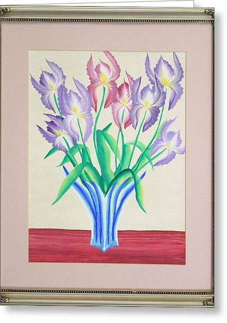 Art Galleries On Line Greeting Cards - Irises Greeting Card by Ron Davidson