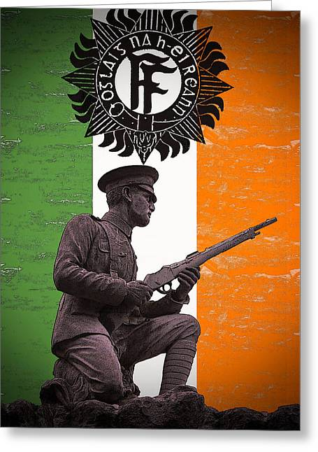 1916 Digital Greeting Cards - Irish 1916 Volunteer Greeting Card by David Doyle