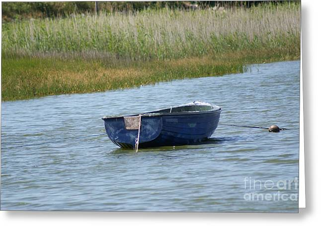 Ladys Island Greeting Cards - Irish Blue Boat 3 Greeting Card by Carol Lynch