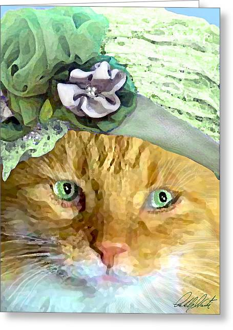 Humorous Greeting Cards Greeting Cards - Irish Cat Greeting Card by Michele  Avanti