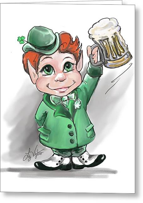 Stein Greeting Cards - Irish Cheers Greeting Card by Liz Viztes