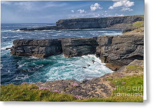 Irish Cliffs Greeting Card by Juergen Klust