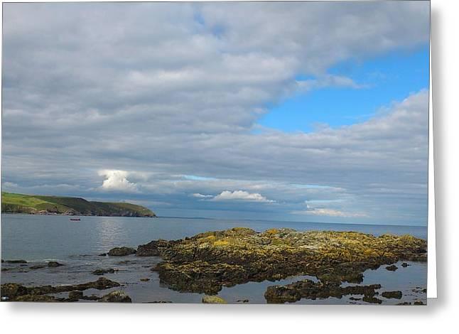 Fishing Boats Greeting Cards - Irish Coast Greeting Card by Richie Barton