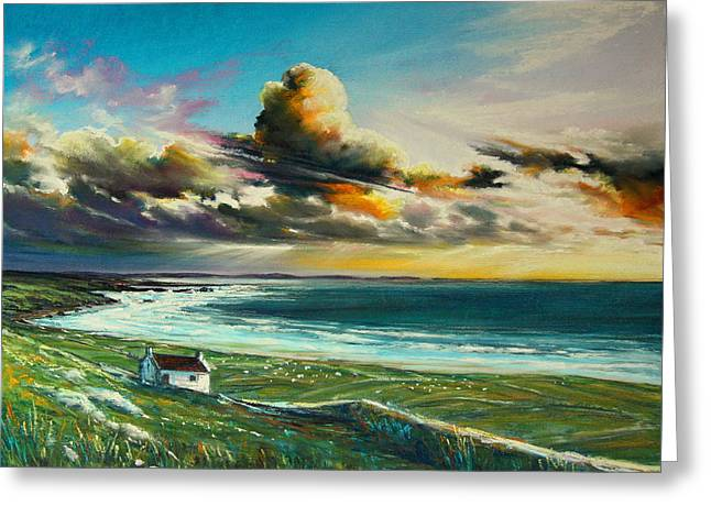 Irish Coastline Greeting Card by Roman Burgan