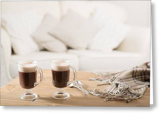 Liqueur Greeting Cards - Irish Coffee Greeting Card by Amanda And Christopher Elwell