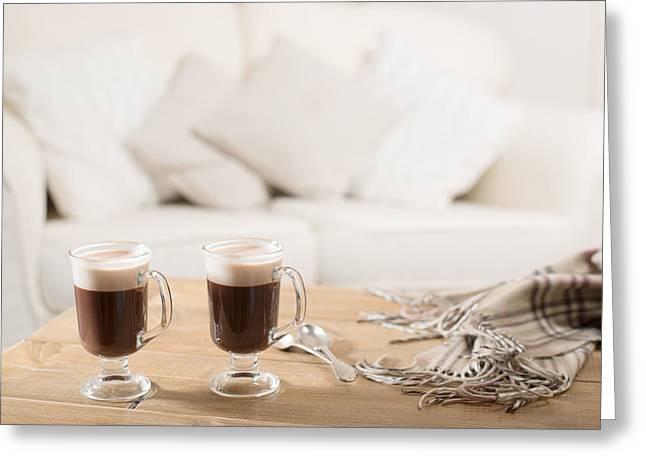 Cushion Greeting Cards - Irish Coffee Greeting Card by Amanda And Christopher Elwell