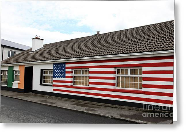 Barack Greeting Cards - Irish cottage Moneygall Greeting Card by Ros Drinkwater