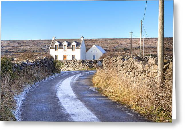 Galway Bay Greeting Cards - Irish Cottage on Isle of Inis Mor Greeting Card by Mark Tisdale