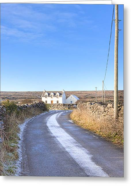 Irish Cottage On The Aran Islands Greeting Card by Mark E Tisdale